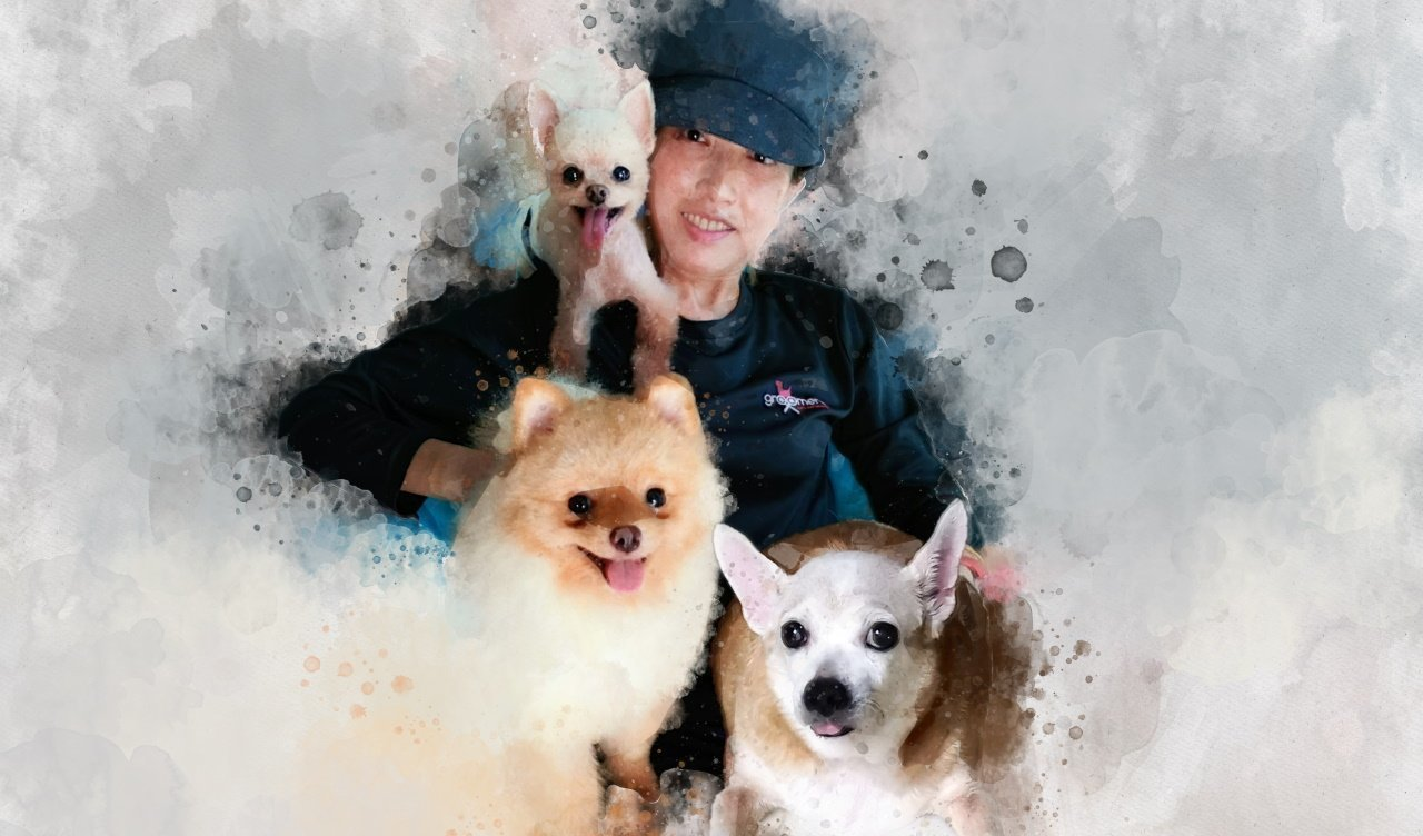 Singapore mobile pet groomer Lexis Tan